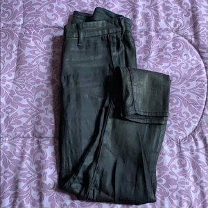 Black waxed legging jeans by Koral
